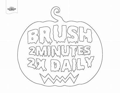 Dental Coloring Pages Pun Pumpkin Printable Halloween