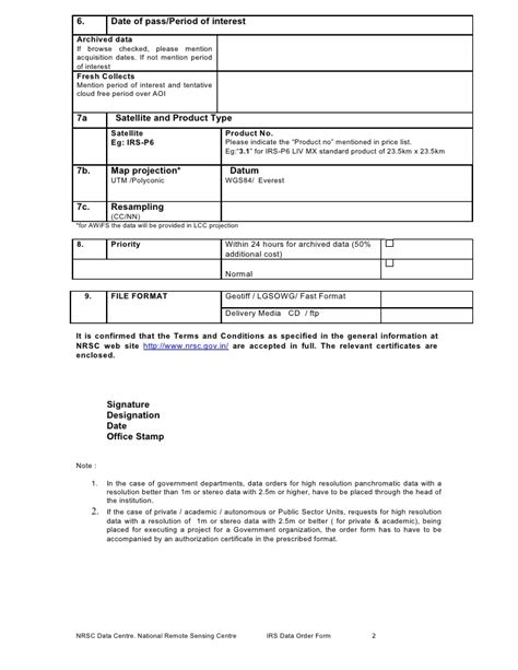 irs satellite data products order form doc