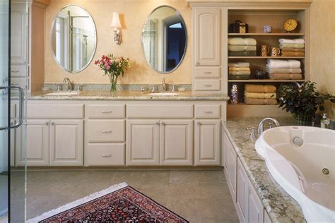 custom bathroom cabinets curved sinks two level vessel sinks