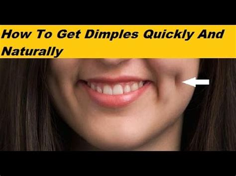 How To Get Dimples Quickly And Naturally  Health Flicks