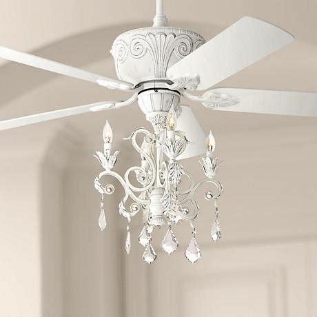 white crystal chandelier ceiling fan casa deville rubbed white chandelier ceiling fan 87534
