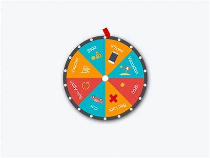 Wheel Fortune Lucky Prize Animation Icon Dribbble