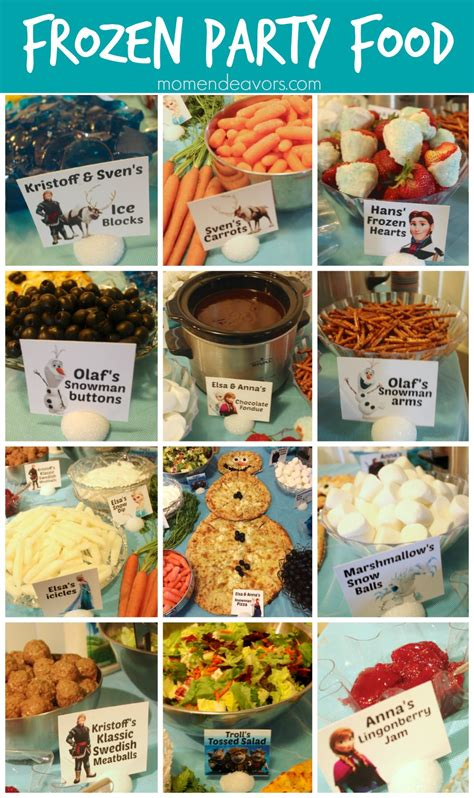 cheap easy canapes disney frozen food menu