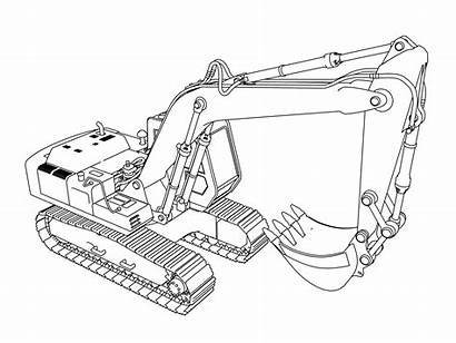 Coloring Pages Excavator Construction Equipment Heavy Colouring
