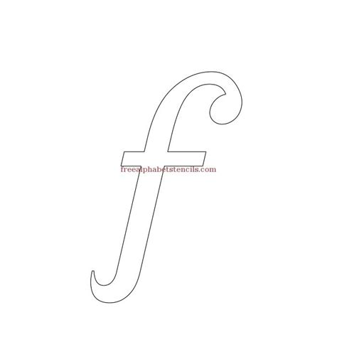 printable lowercase letter stencils stylish cursive alphabet stencils freealphabetstencils