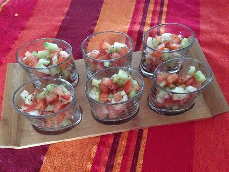 cuisine ardechoise tartare de tomates et concombre aux délices de