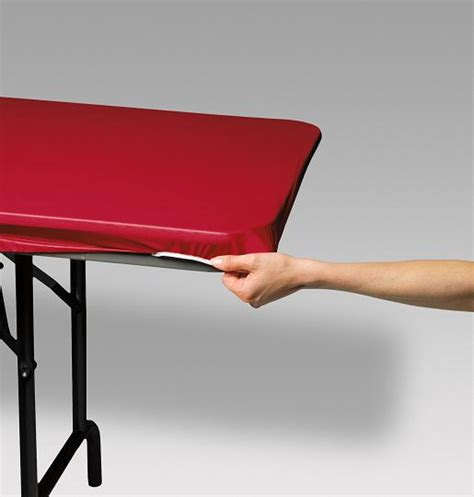 fitted table covers elastic stay put plastic fitted table covers in red royal blue