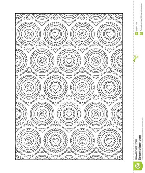 Coloring Background by Coloring Page For Adults Or Black And White Ornamental