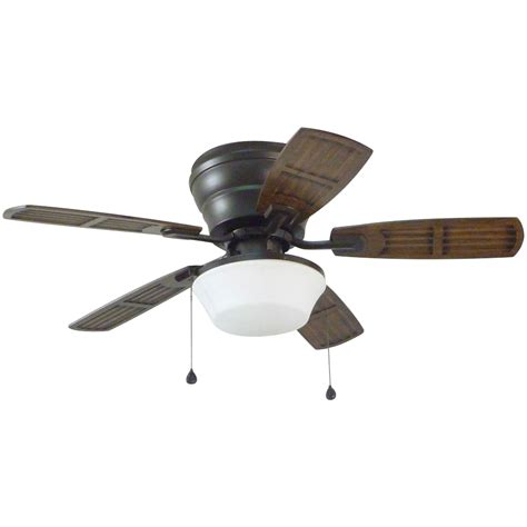 flush ceiling fan with light shop litex mooreland 44 in bronze flush mount indoor