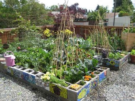 cinder block garden awesome home projects created from concrete cinder blocks