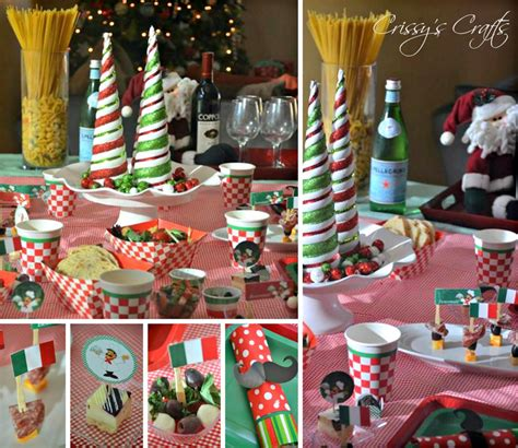 italian themed party table decorations home party theme