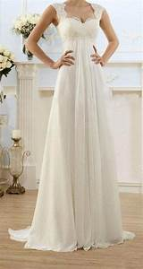 modest wedding gowns capped sleeves empire waist by With a line empire waist wedding dress