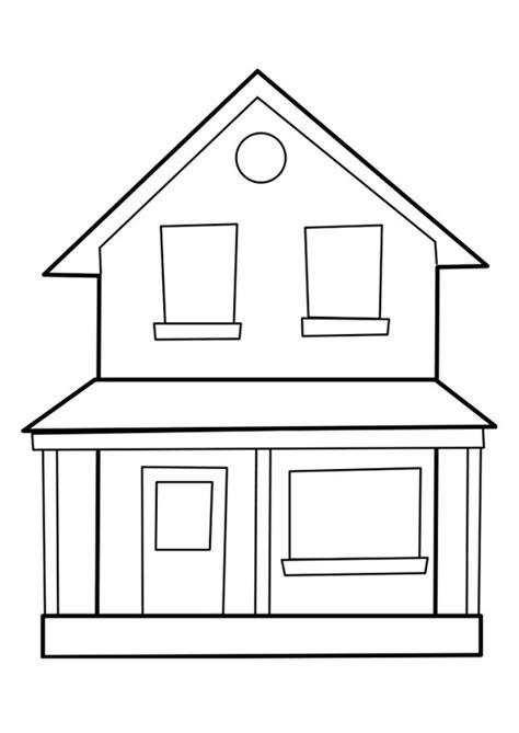 Huizen Kleurplaat by Kleurplaat Huis Afb 22849