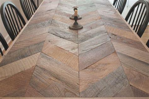 herringbone table chevron table home goods decor diy table top
