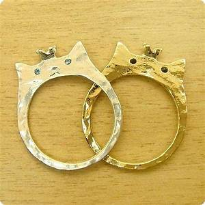 Feline wedding rings cat shaped wedding ring for Cat wedding ring