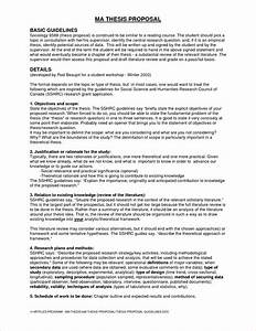 qualitative research thesis proposal sample template