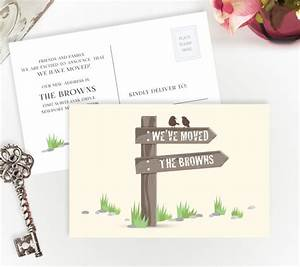 new address postcards personalized moving cards With custom new address cards