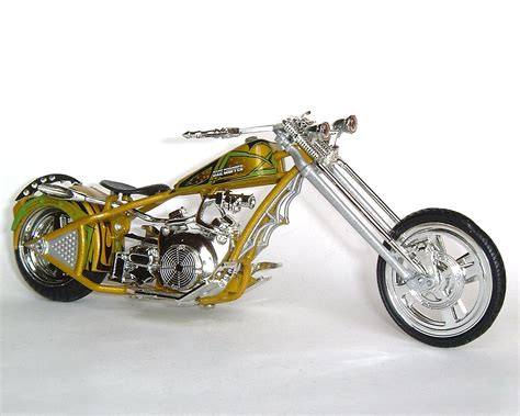 Motorcycle Chopper Orange