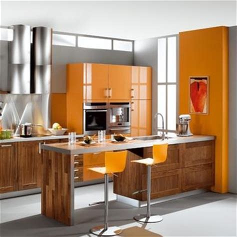kitchen design orange cuisine orange bois photo de c 244 t 233 cuisine les ateliers 1294