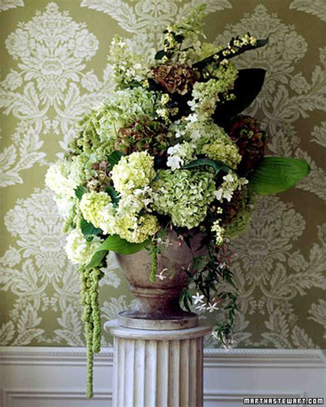 hydrangea wedding flower arrangements martha stewart