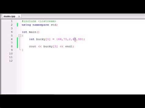 buckys  programming tutorials  arrays youtube