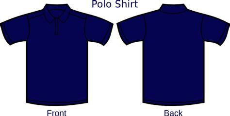 navy blue polo shirt layout clip art  clkercom vector
