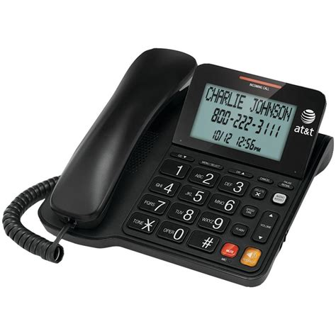 corded wall phone with caller id at t corded speaker phone with caller id atcl2940 the