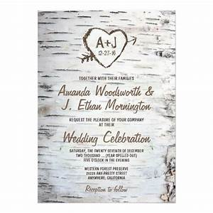 country rustic birch tree bark wedding invitations With wedding invitations two languages