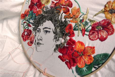 embroidery portraits     created