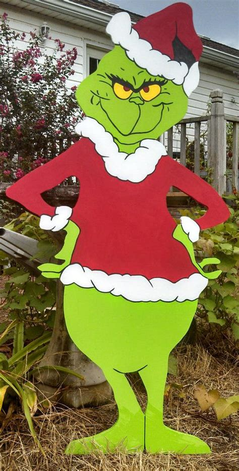 grinch christmas yard art patterns holiday yard