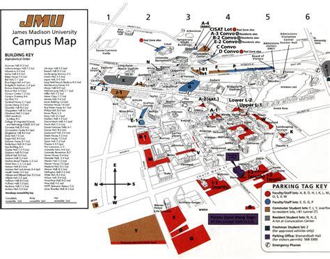 James Madison Campus Map.University Map Campus James Madison