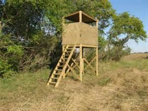 Elevated Deer Hunting Blind Plans