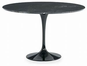 saarinen round dining table black marble modern With modern black round dining table
