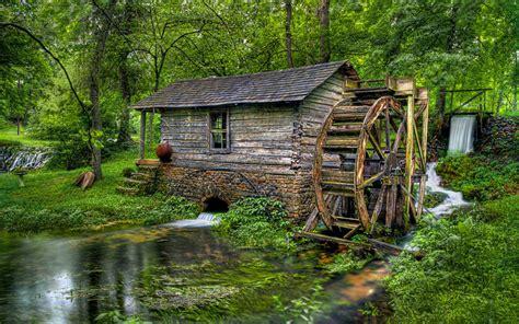 wooden mill wooden water wheel flow hd desktop wallpaper wallpaperscom