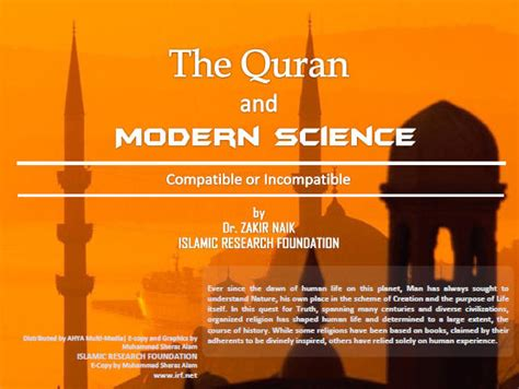 the quran and the modern science bs e for edu the quran and modern science compatible or incompatible