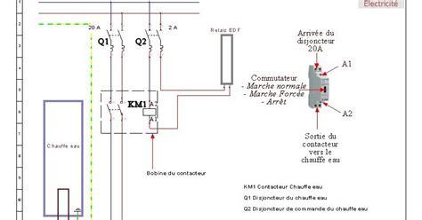 schema branchement contacteur chauffe eau