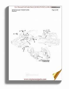 Cub Cadet Parts Manual For Model Rzt50 Kawasaki 17ai2acp 2009
