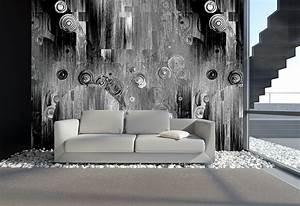 Moderne Tapeten Für Wohnzimmer : moderne tapete schwarz ~ Sanjose-hotels-ca.com Haus und Dekorationen
