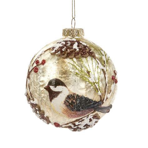 boule en verre boule de no 235 l motif oiseau 10 cm