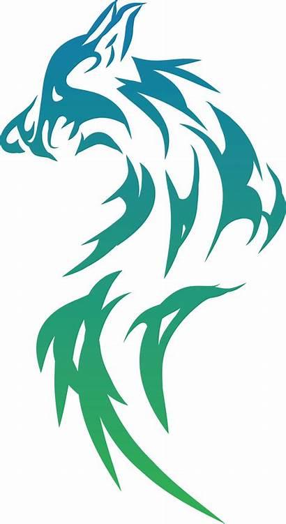 Svg Wolf Tribal Clipart Gradient Wolfdog Fox