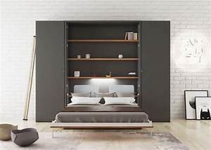 Meuble Lit Escamotable : lit escamotable bureau bonifacio meuble qui permet de gagner de la place avec 2 fonctions dans ~ Farleysfitness.com Idées de Décoration