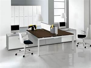 Unique, Style, Two, Sided, Desk, Offers, Togetherness, In, Simplicity, U2013, Homesfeed