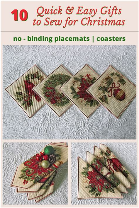 quick and easy gifts to sew for christmas geta s
