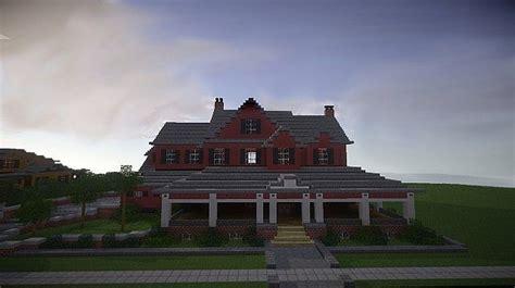 red  mansion minecraft building