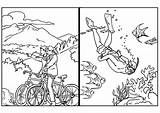 Coloring Diving Biycle Travel Comment sketch template
