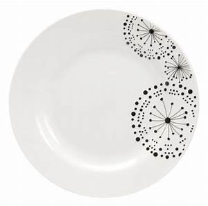 Assiette Plate Blanche : prix assiette plate noire et blanche vaisselle maison ~ Teatrodelosmanantiales.com Idées de Décoration