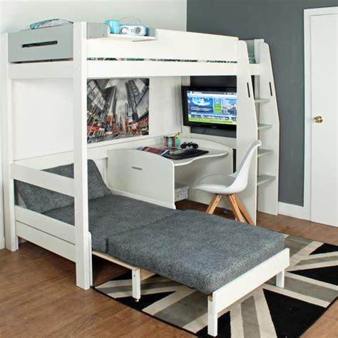 Bunk Bed Sofa Desk by High Sleeper Loft Beds With Sofabed Futon Sofa Desk