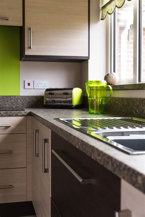 green kitchen worktop contemporary avola chagne doors and duropal tuscan 1455