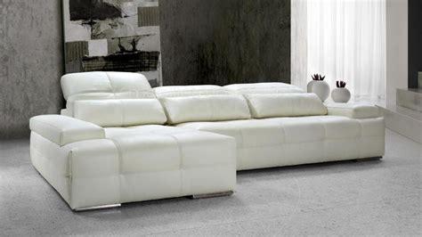 canape blanc cuir design canape design angle cuir blanc nobel01 xl