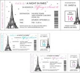 Parisian Baby Shower Invitations by Paris Party Boarding Pass Invitation